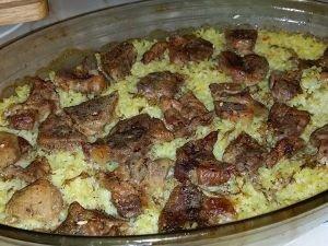СВИНИНА: с рисом в духовке
