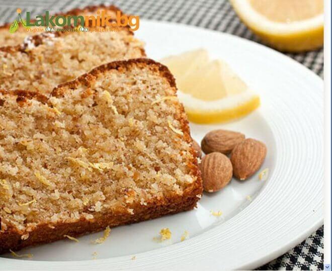 Лимонный пирог: с миндалем