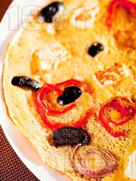 ОМЛЕТ: деревенский с перцем, оливками и сыром фета