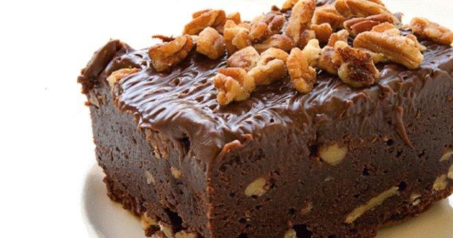 Шоколадный пирог: с грецкими орехами