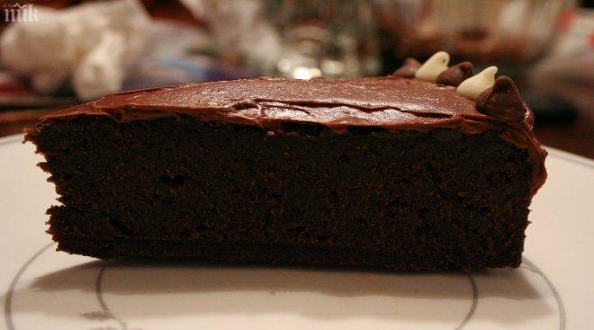 ПИРОГ: с шоколадной глазурью
