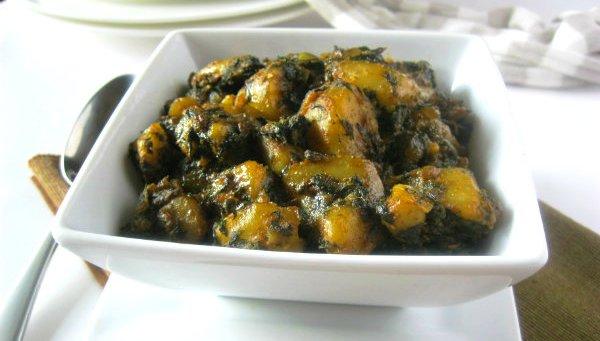 РАГУ: с картофелем и шпинатом