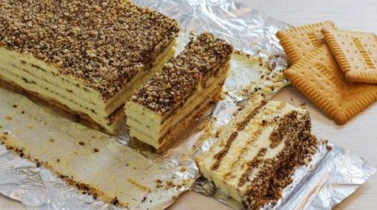 ТОРТ: с печеньем и орехами