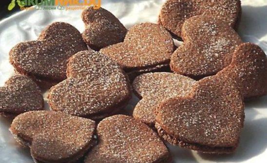 ПЕЧЕНЬЕ: шоколадные хрустящие сердечки