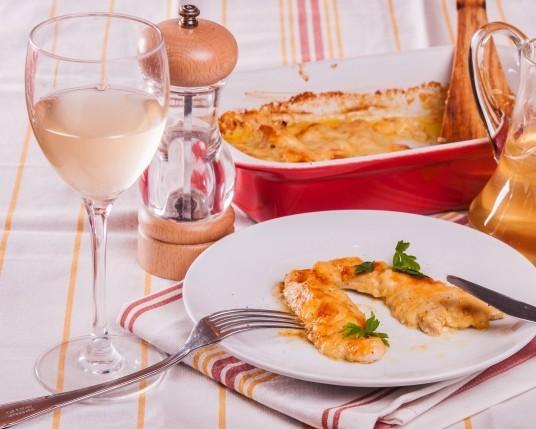 КУРИНОЕ ФИЛЕ: с майонезом и сыром