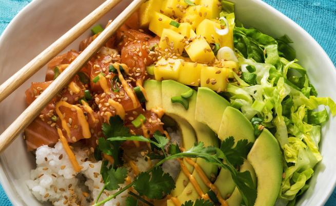 салат из манго